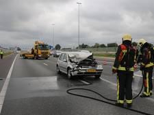 Ongeval tussen vrachtwagen en personenauto op A4 bij Roelofarendsveen