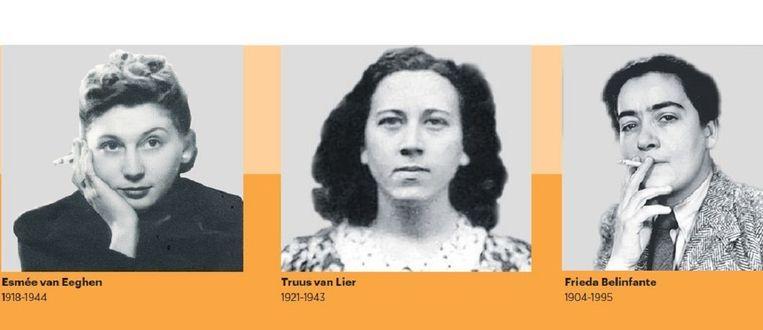 Truus van Lier Deze Utrechtse rechtenstudente schoot op 3 september 1943 in het Willemsplantsoen de beruchte hoofdcommissaris van politie en NSB-kopstuk G.J. Kerlen dood; Van Lier werd daarvoor geëxecuteerd. In zijn Klein Verslag verbaasde Trouw-columnist Wim Boevink zich er onlangs over dat Utrecht geen monument van haar kent. Wel plantte een onbekende aan de Catharijnesingel narcissen die samen 'Truus' vormen. Beeld Niod, Verzetsmuseum, Beeldbank WO II