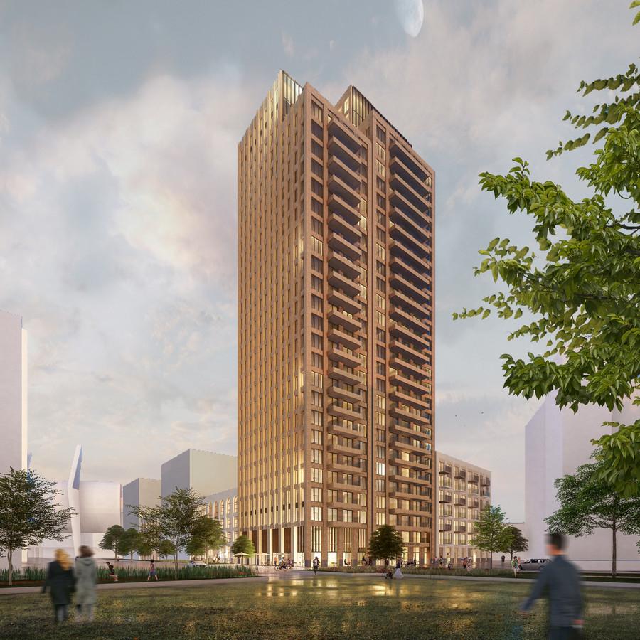 Philips Light Tower In Eindhoven: Woontoren Van 92 Meter Verrijst In Victoriapark In
