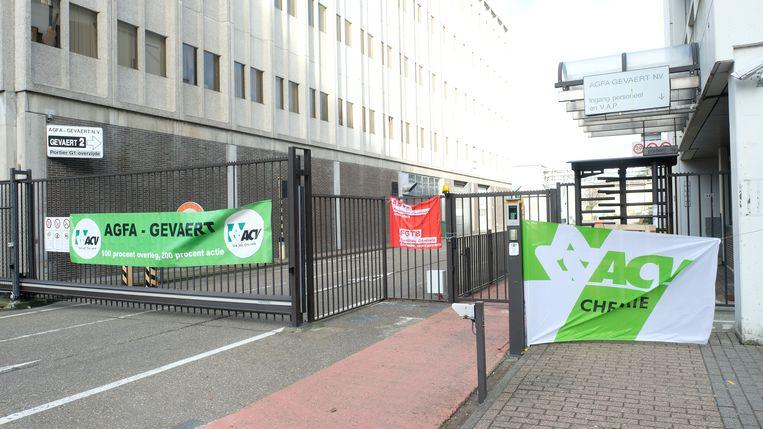 Bij Agfa-Gevaert in Mortsel bleven de poorten gesloten woensdag.