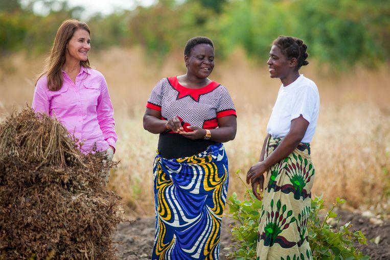 Melinda Gates op bezoek in Malawi. Beeld