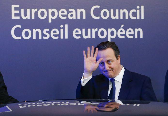David Cameron staat duidelijk niet achter de beslissingen van Boris Johnson.