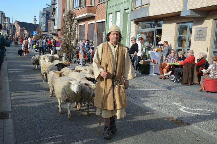 De herder met zijn schapen.
