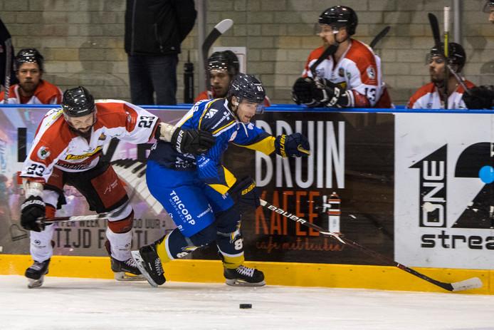 Max Hermens in actie tegen Hannover Scorpions.
