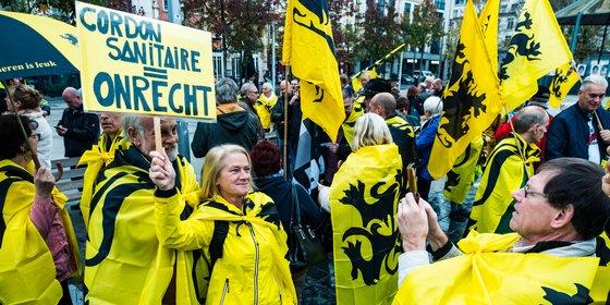 Vlaams-nationalisten gaan elke derde zondag van de maand in Antwerpen protesteren