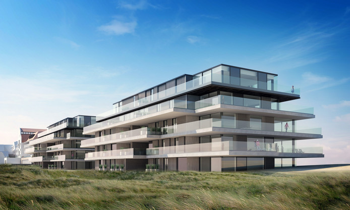 Artist's impression van het project Blanke Top - The Residences in Cadzand-Bad.