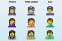 De genderloze emoji