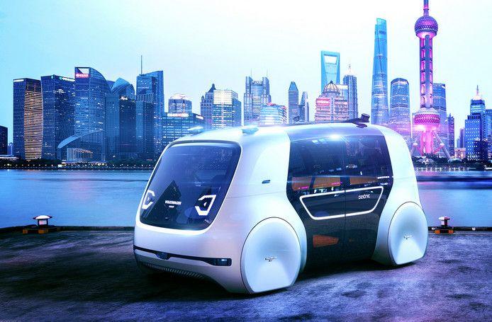 Studiemodel van een zelfrijdende auto van Volkswagen