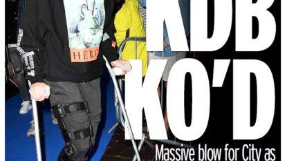 Kevin De Bruyne op krukken met zware knieblessure, bij Man City gaan ze nu al uit van maximum vier maanden