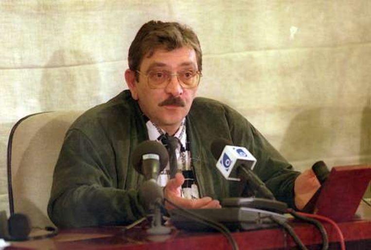 René Michaux tijdens zijn verhoor voor de parlementaire onderzoekscommissie-Dutroux.