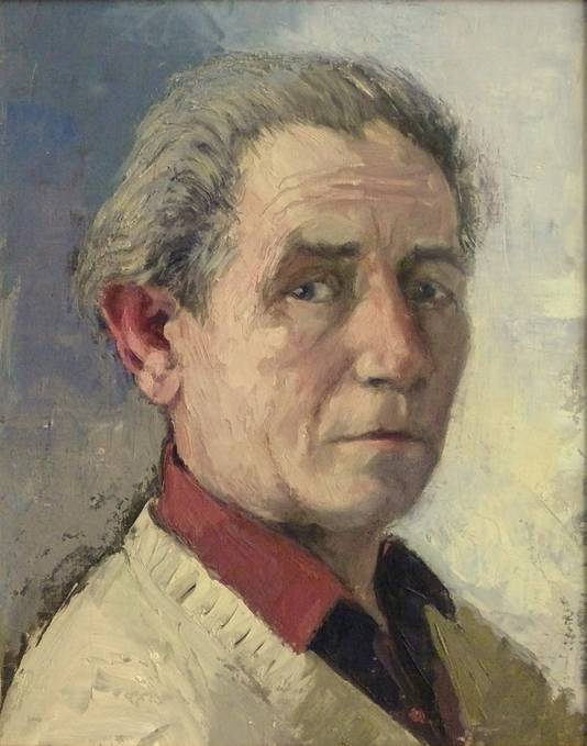Een zelfportret van Dorus van Oorschot.