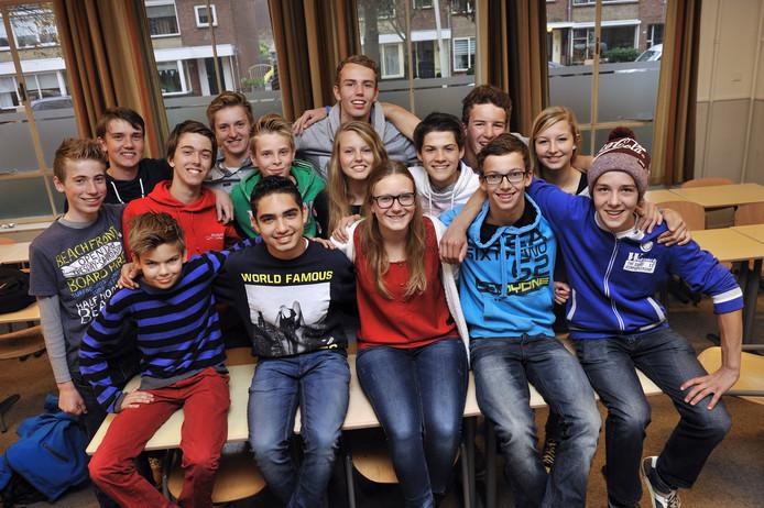 De leerlingen een dag na terugkomst van Tenerife.