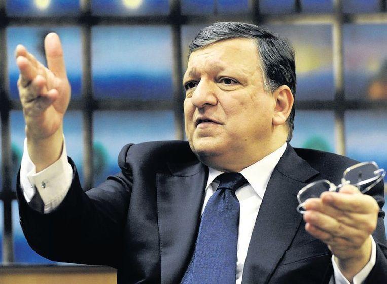 José Manuel Barroso: 'We hebben dicht bij de afgrond gestaan. Ik ben trots dat we hebben kunnen voorkomen dat een of twee landen de eurozone moesten verlaten.' Beeld reuters