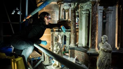 Ontmoet de restaurateurs van de kunstwerken in de Sint-Martinuskerk