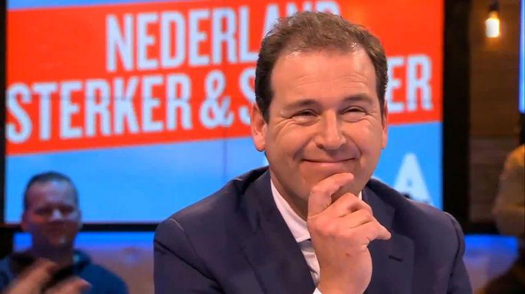 PvdA-lijsttrekker Lodewijk Asscher bij Jinek.  Beeld KRO-NCRV