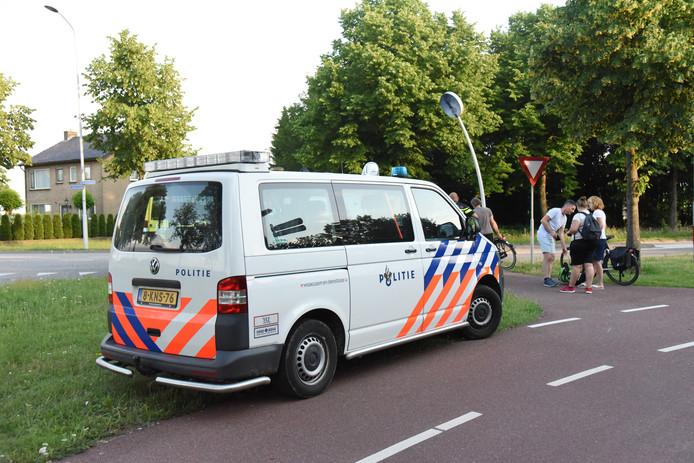 De politie ter plaatse