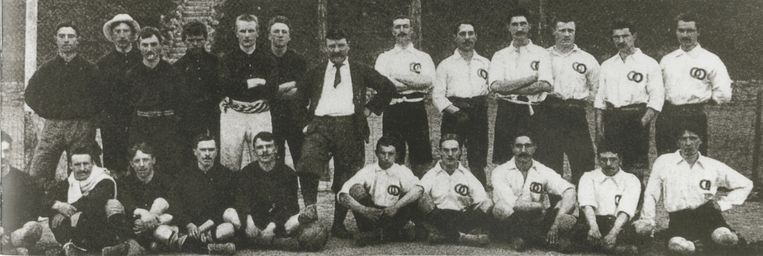 De eerste interland van de Belgische nationale voetbalploeg. Tegen Frankrijk wordt het 3-3. De doelpunten komen van Queritet (2) en Destrebecq.