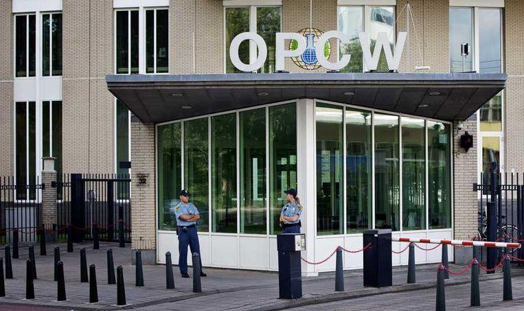 Het hoofdkantoor van OPCW, de Organisatie voor het Verbod op Chemische Wapens in Den Haag. Beeld anp