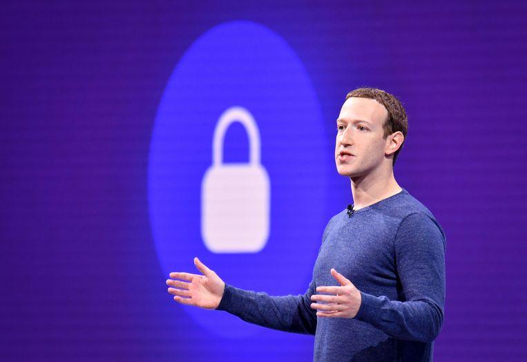 Facebook CEO Mark Zuckerberg praat over cryptomunt 'Libra'.   Beeld AFP