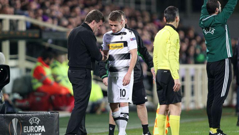 Thorgan Hazard moest na 17 minuten met een blessure naar de kant
