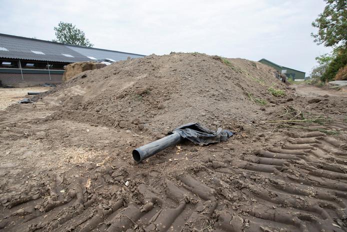 Een maïskuil zorgde eerder deze week in Zutphen ook al voor gevaar.
