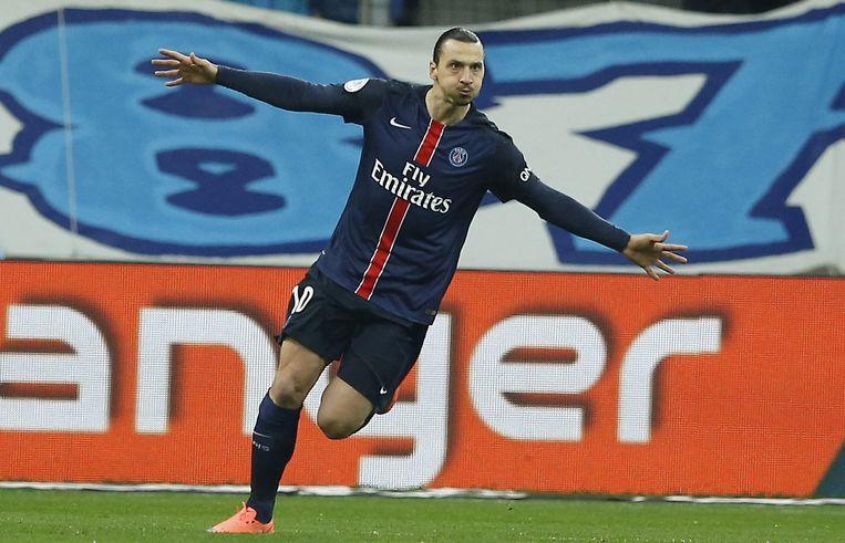 Zlatan Ibrahimovic speelt met PSG tegen Chelsea. Beeld epa