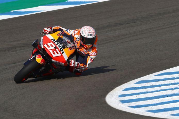 Premiers tours de piste, premier temps référence pour Marc Marquez.