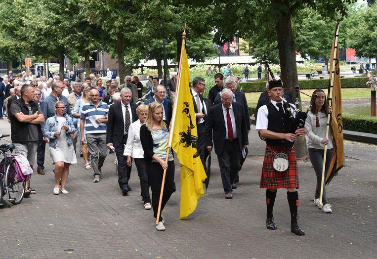 De optocht van de 11 juli-viering vorig jaar in Turnhout