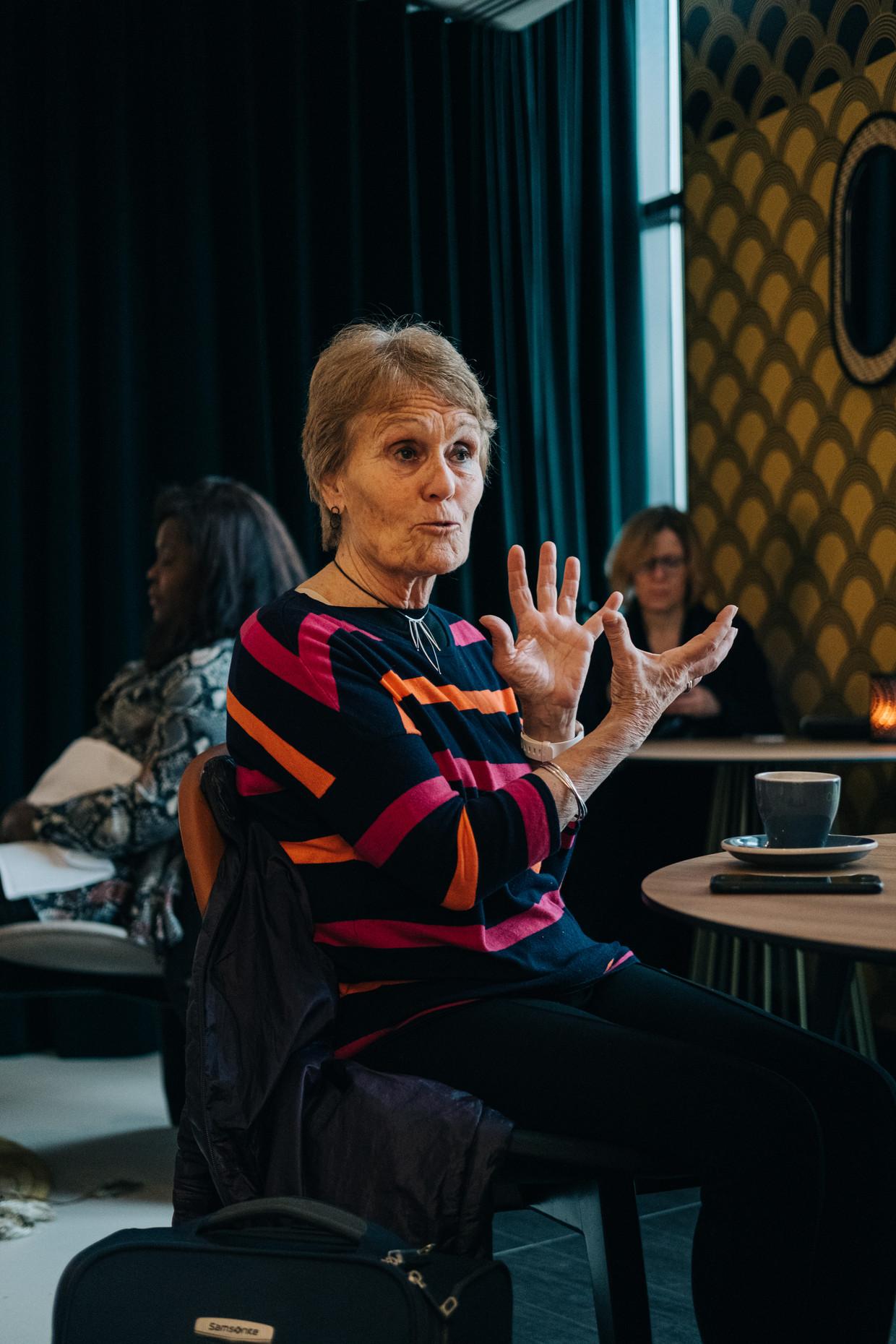 De Britse professor neurologie Gina Rippon was in Brussel om te spreken voor de Europese Commissie. Beeld Wouter Van Vooren