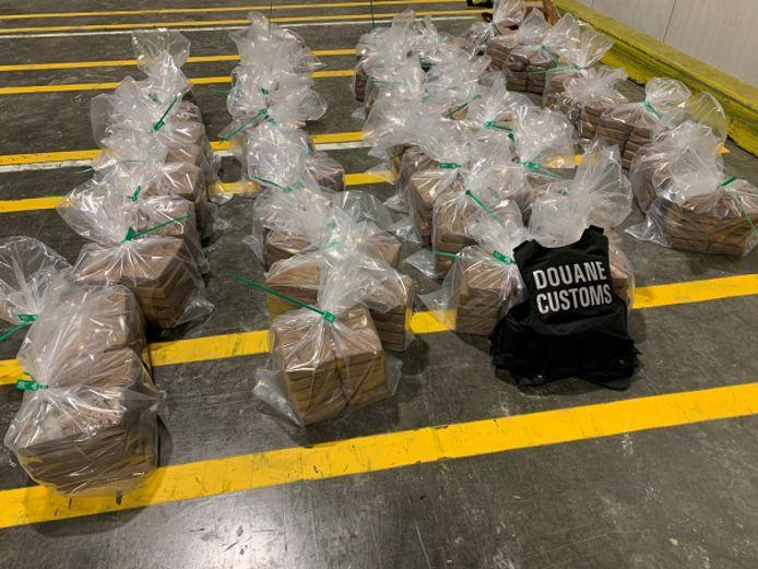 In een zending bananen werd maandag 475 kilo cocaïne gevonden.