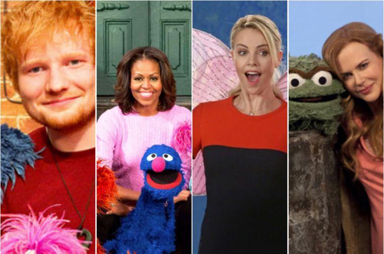 Deze celebs verschenen al in 'Sesame Street'.