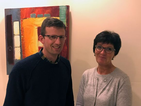 Woonzorgzone De Kouter in Blanden. Voorzitter van VZW De Kouter Jos De Wachter en voormalig OCMW-voorzitter Diane Grauwels waren twee drijvende krachten in het project.