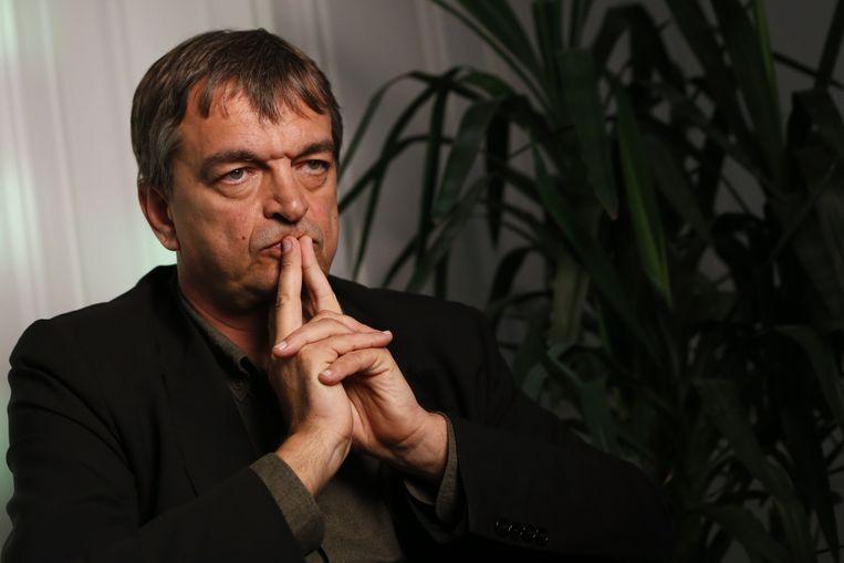 De Fransman Jerôme Champagne steunt de actiegroep New FIFA Now. Beeld ap