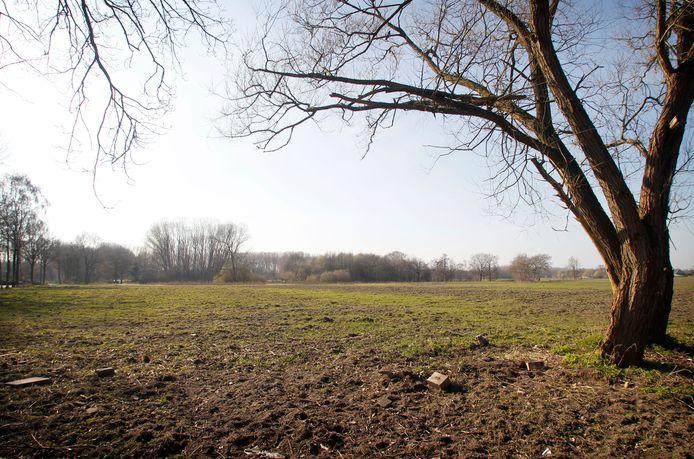 Het gebied bij De Weegbree in Valkenswaard waar een groot deel van de nieuwe wijk Dommelkwartier gebouwd zou worden.