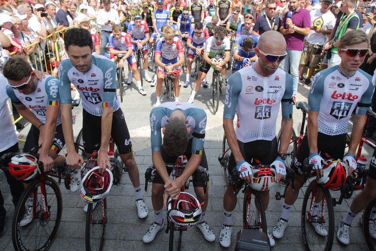 De ploegmakkers van Bjorg Lambrecht hadden het dinsdag lastig bij de start van de ererit in Polen.