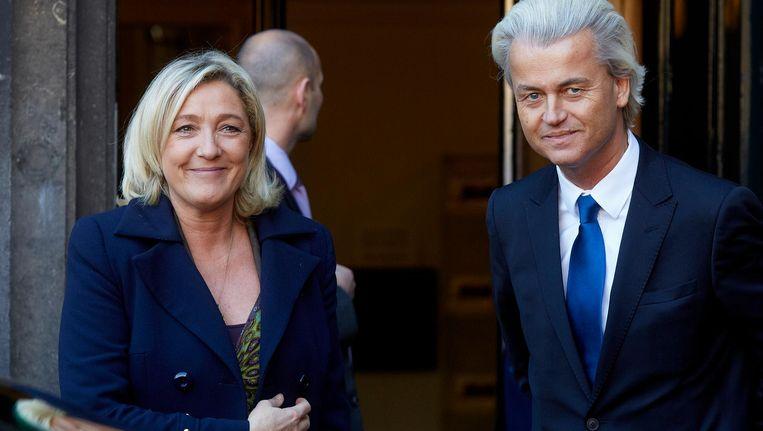 Marine le Pen en Geert Wilders. Beeld anp