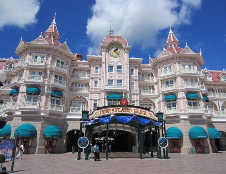 Ingang van Disneyland Parijs.