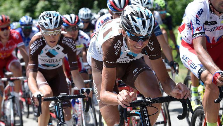 Johan Vansummeren geselt de pedalen tijdens de Dauphiné