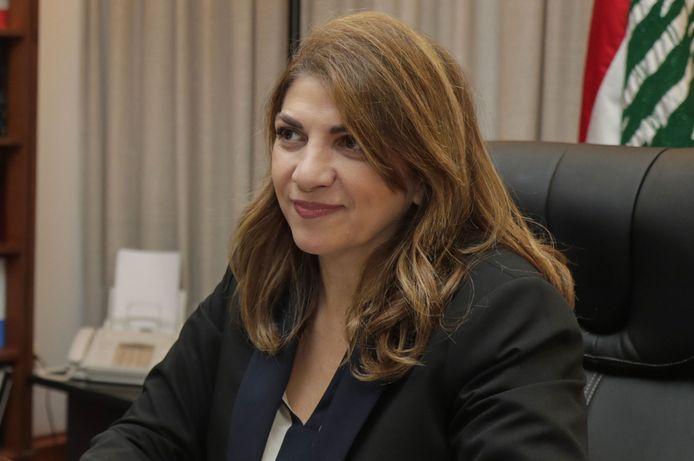 De Libanese minister van Justitie, Marie-Claude Najm.