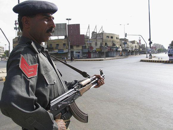 Foto van Pakistaanse politieman ter illustratie.