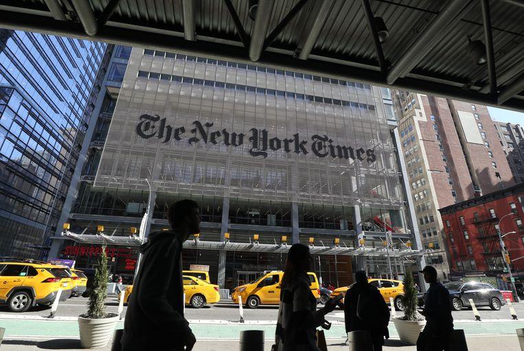 Het hoofdkantoor van The New York Time op 8th Avenue in New York. Beeld Getty Images