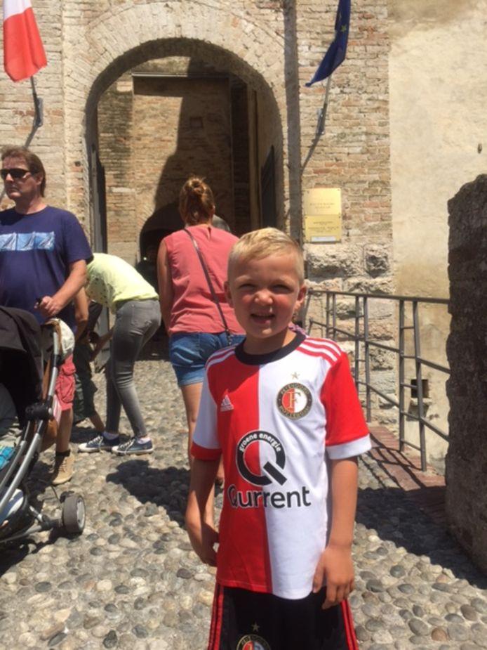 Bram Treijtel stuurde dit aandoenlijke plaatje vanuit het Italiaanse Sirmione.