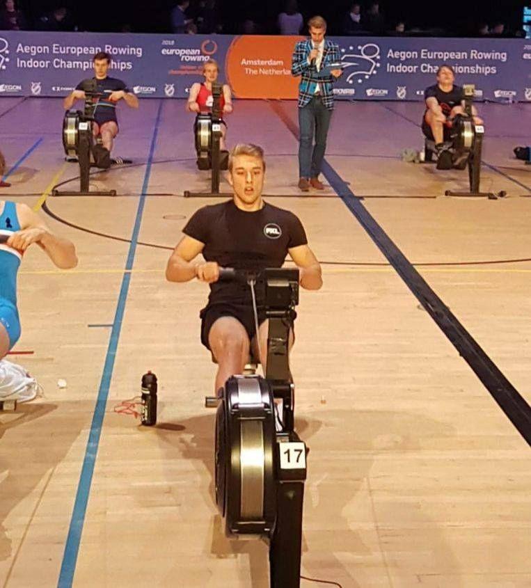 De nieuwe Europees Kampioen Indoorroeien Ward Willemijn uit Tienen