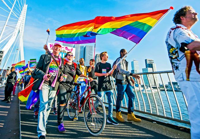 De jaarlijkse Rotterdam Pride.