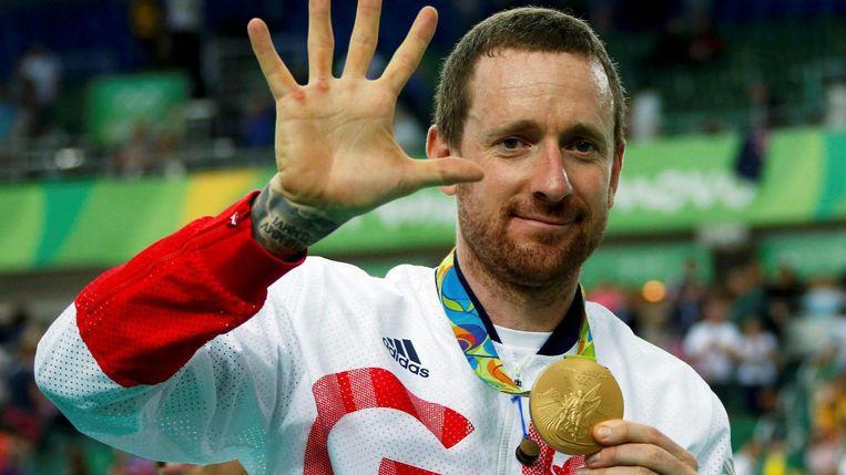 Wiggins met zijn vijfde gouden medaille. Beeld Reuters