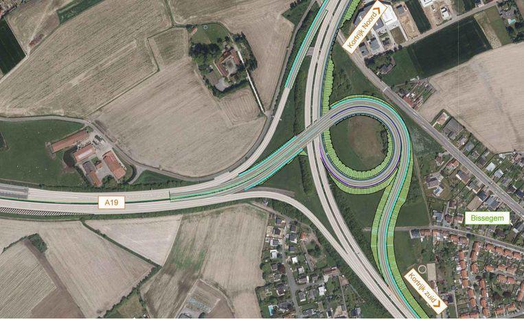 Zo zal de nieuwe verkeerswisselaar eruitzien.