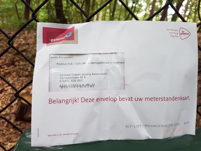 De post van Essent gericht aan het COA in Ede.