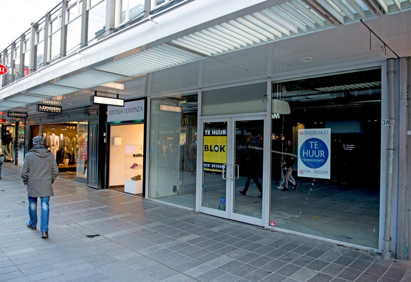 Een lege winkel in Rotterdam