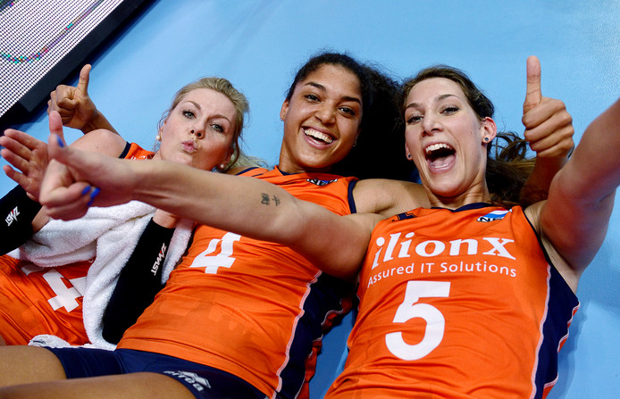 Van links naar rechts: Laura Dijkema, Celeste Plak en Robin de Kruijf.