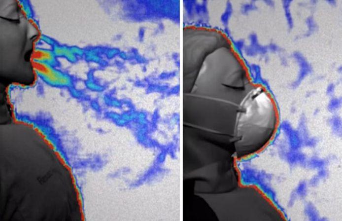 Des scientifiques de l'université d'Édimbourg, en Écosse, ont utilisé une imagerie de pointe pour étudier l'efficacité de sept types de masques